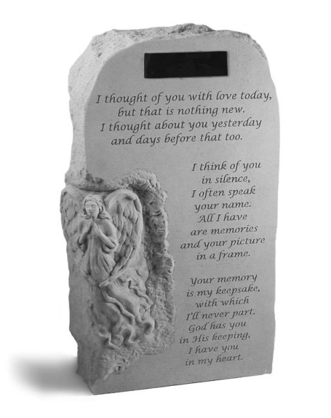 Angel Obelisk with I thought of you... with Marble Rectangle Insert