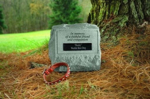 Headstone with Urn - In memory of a faithful friend and companion