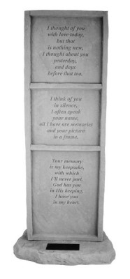 I Thought of You-Obelisk with Marble Rectangle Insert