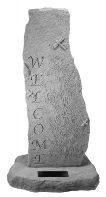 Welcome Totem - with Marble Rectangle Insert
