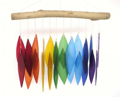 Rainbow & Driftwood Wind Chime