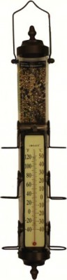 Grande View Bird Feeder Thermometer Bronze 1.75 lb capacity