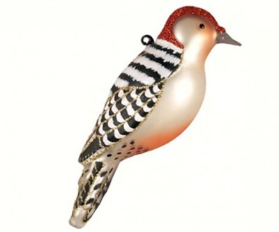 Red Bellied Woodpecker Christmas Tree Ornament