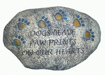 Dogs Leave Paw Prints on our Hearts Tiding Stone