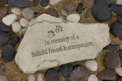 In Memory of a Faithful Friend & Companion Stone