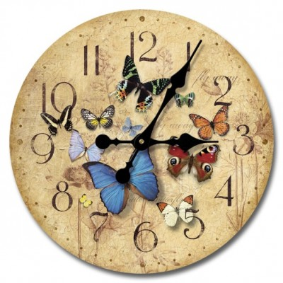 Flutter By Wood Clock