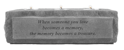 When someone you love... 3 light Memorial Candle Holder