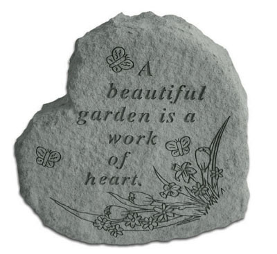 Cast Stone HEART - A beautiful garden...