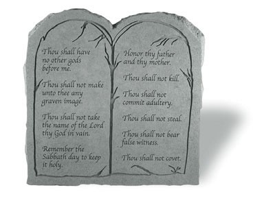 Kay Berry The Ten Commandments Tablet