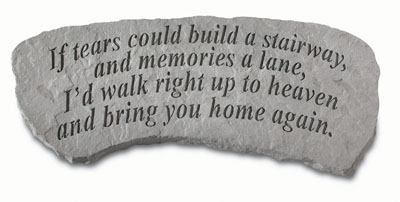 If Tears Could Build... Small Cast Stone Bench