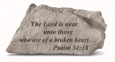 Inspirational Great Thought Cast Stone - The Lord is near unto those...