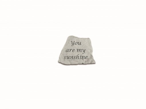 Inspirational Great Thought Cast Stone - You are my sunshine