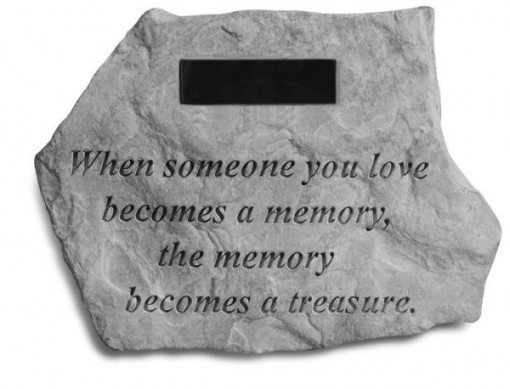 When Someone You Love...... with Marble Rectangle Insert