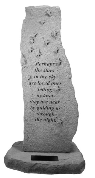 Perhaps the stars...Totem - with Marble Rectangle Insert