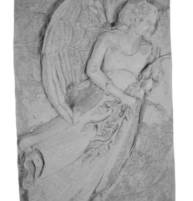 Cast Memorial Stone Standing Angel Plaque