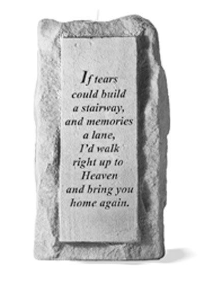 If tears could build a stairway..single-tall Memorial Candle Holder