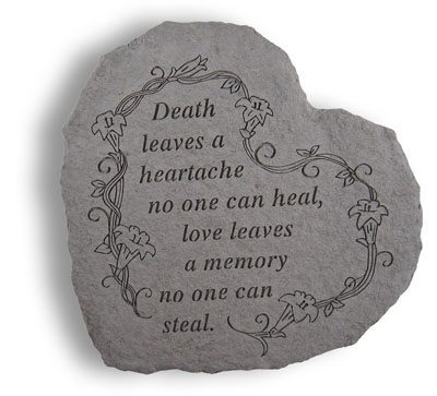 Cast Stone HEART - Death leaves a heartache...