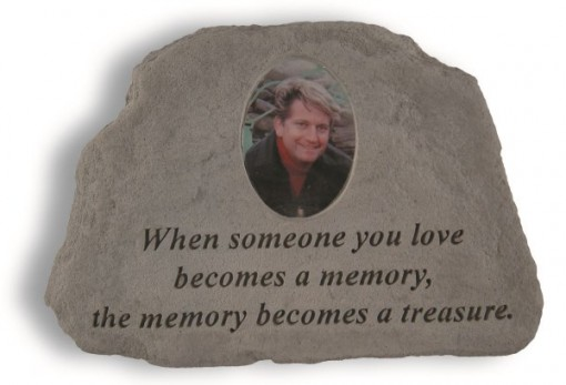 Inspirational Great Thought Cast Stone - When someone you love... with Photo Insert