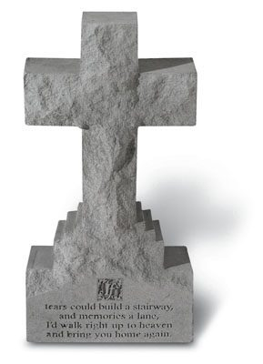 15 inch Cross on Base with If Tears Could