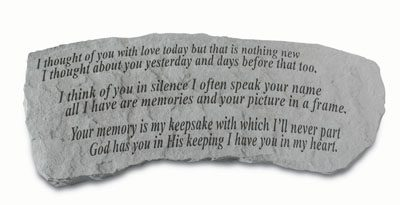 I thought of you with love...Cast Stone Bench