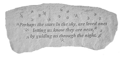 Perhaps the stars in the sky...Small Cast Stone Bench