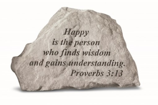 Inspiratioanal Great Thought Cast Stone - Happy is the person who finds...