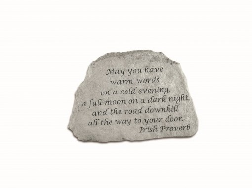Inspirational Great Thought Cast Stone - May you have warm words...