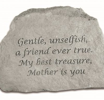 Inspirational Great Thought Cast Stone - Gentle, unselfish...