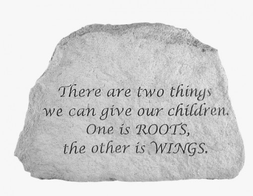 Inspirational Great Thought Cast Stone - There are two things..