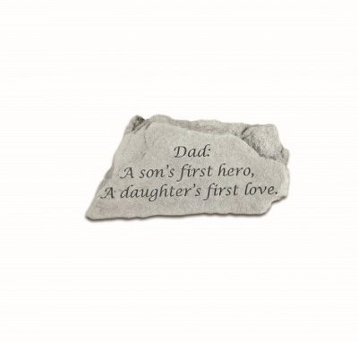 Inspirational Great Thought Cast Stone - Dad - A son...