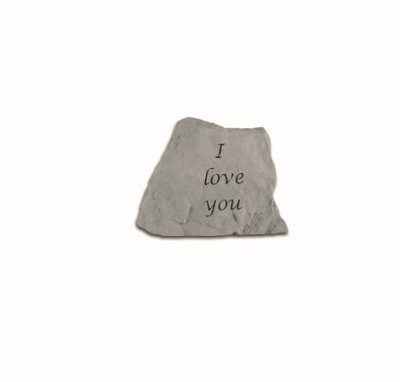 Inspirational Great Thought Cast Stone - I love you